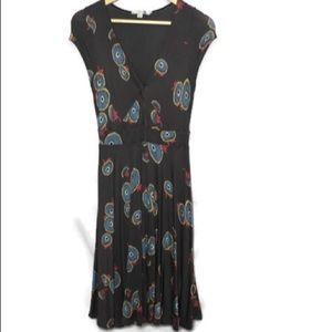 Boden size 8R short sleeve Rose Print Dress.